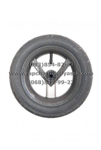 Колесо надувное 10 дюймов серое с алюминиевой трубкой к детским коляскам Adamex