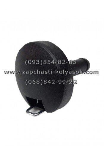 Втулка-кнопка колеса к детской коляске черная. Модель 20