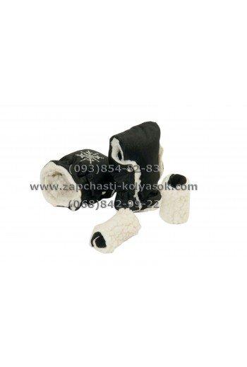 Муфта-рукавички на ручку детской коляски черная
