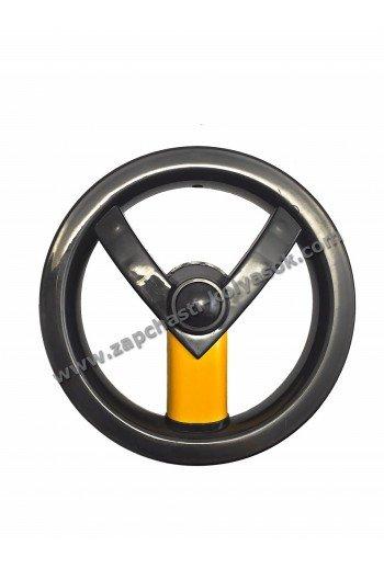 Диск заднего колеса 12 дюймов черно-желтый Adamex