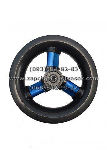 Диск переднего колеса 10 дюймов черный с синими спицами TAKO