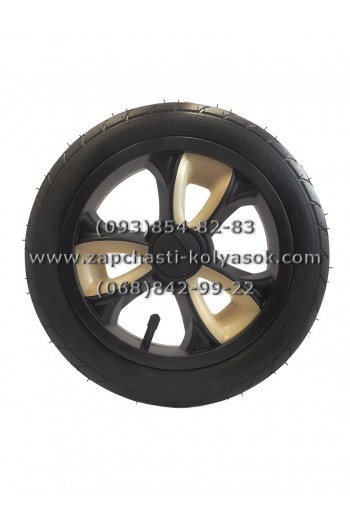 Колесо надувное 12 дюймов черное с бежевыми вставками Adamex